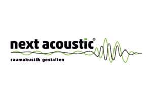 Logo next acoustic - raumakustik gestalten, Akustik-Partner der Höfer Akustik GmbH